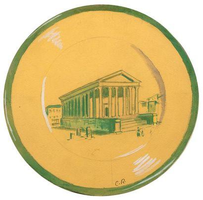 Carlos REYMOND (Paris 1884-Nice 1970) Etudes de Villes françaises en tondo Suite...