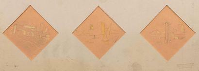 Carlos REYMOND (Paris 1884-Nice 1970) Projets...