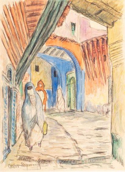 Carlos REYMOND (Paris 1884-Nice 1970) Casbah...