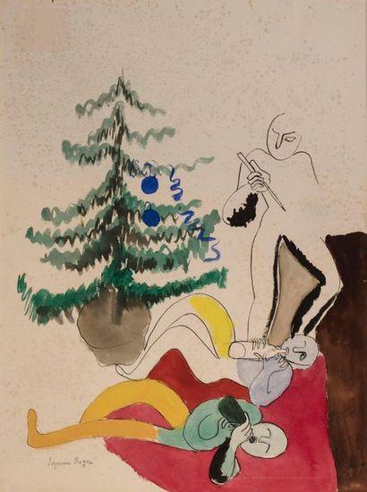 Suzanne ROGER (Paris 1899 - 1986) Sapin et...