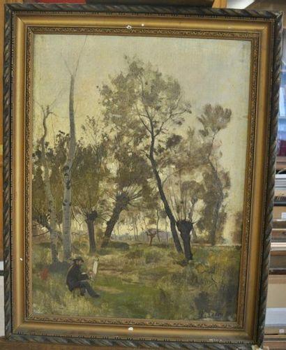 Paul SAIN (Avignon 1853 - 1908) Le peintre...
