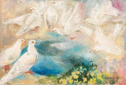 Nina ALEXANDROWICZ (1877-1945) Les pigeons...