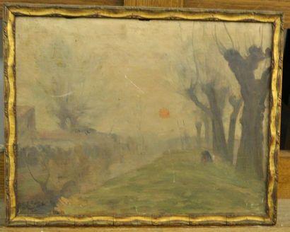 Paul SEBILLEAU (1847-1907) Lever de soleil...
