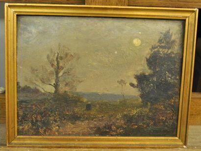 Paul SEBILLEAU (1847-1907) Paysage de forêt...
