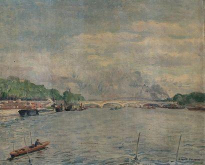 Paul SEGUIN-BERTAULT ( 1869-1964) Le pont...