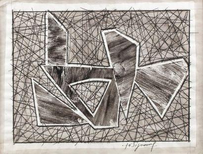Jean SIGNOVERT (Paris 1919 - 1981) Composition...