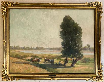 Jean ARNAVIELLE (1881-1961) Paysage Huile...