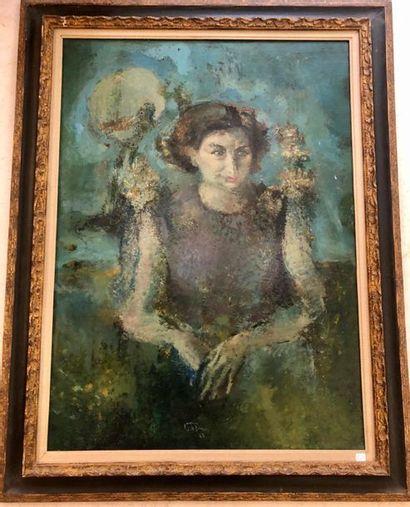 Jacques VAN DER BUSSCHE Portrait de Madame...