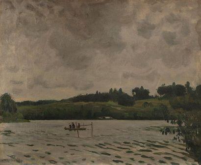 Willem VAN HASSELT ( 1882-1963) La Seine...