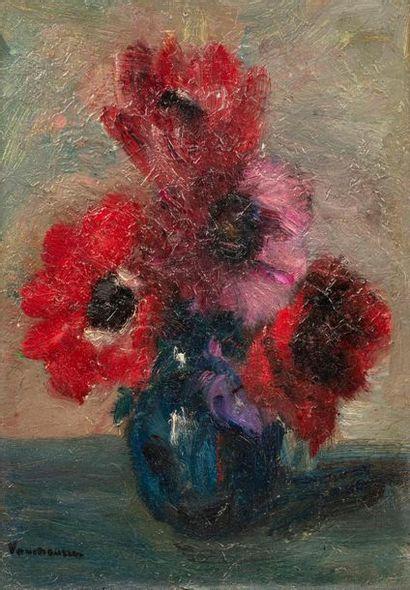 Maurice VAUMOUSSE (1876-1961) Vase de fleurs...
