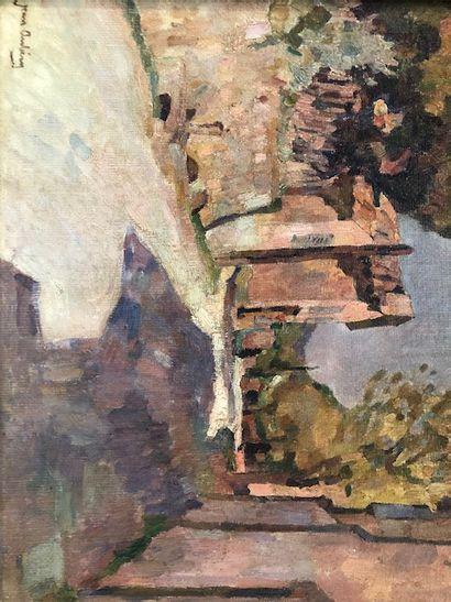 Jean AUBERY (1880-1952) Rue ensoleillée à...