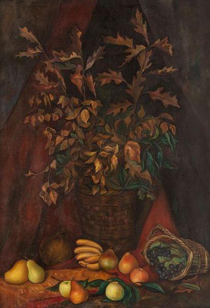 Olga VTOROFF (1898-1936) Bouquet et fruits...