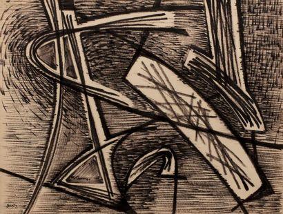 Henri GOETZ (1909-1989) Composition Feutre...