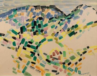 Jacques LAGRANGE (Paris 1917 - 1995) Paysage,...