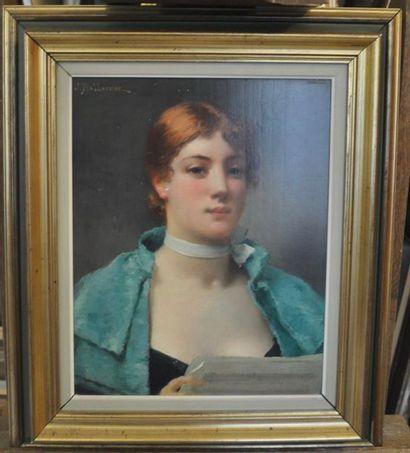 Jules BALLAVOINE (1842 - 1914) La lettre...