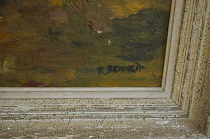 Ruth Manerva BENNETT (1899 - 1960) Automne en Californie Huile sur toile d'origné...