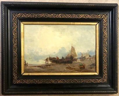 Paul BISTAGNE (Marseille 1850 - 1886) Barques...