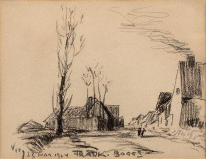 Frank BOGGS (Springfield 1855 - Meudon 1926) Entrée du village de Vicq, 23 mars...