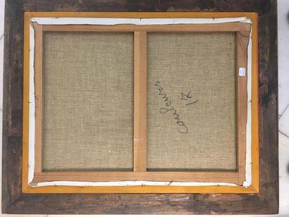 BOUMIAN (Actif au XX ème siècle) Paysage Huile sur toile d'origine 61x46 cm Signé...