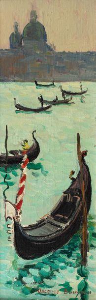 Jacques BOUYSSOU (La Rivière Saint Sauveur 1926 - 1997) Venise, 1962 Huile sur toile...