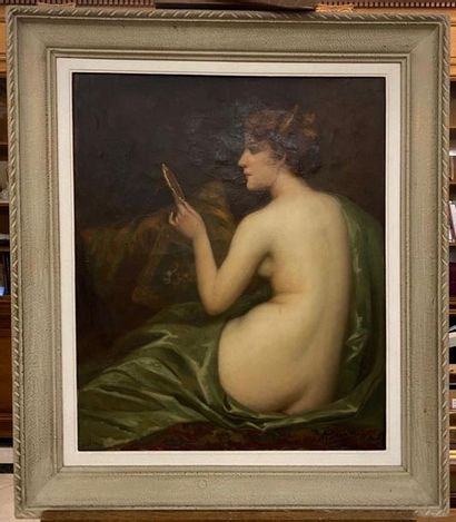 BRIARD (Actif au XX ème siècle) Femme au...