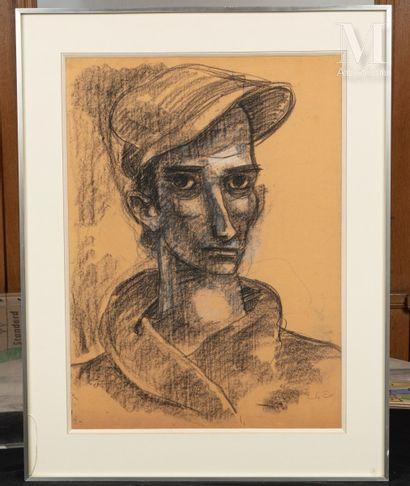 Stanislas ELESZKIEWICZ (Czutowie k.Poltawy 1900- Paris 1963) Autoportrait à la casquette...