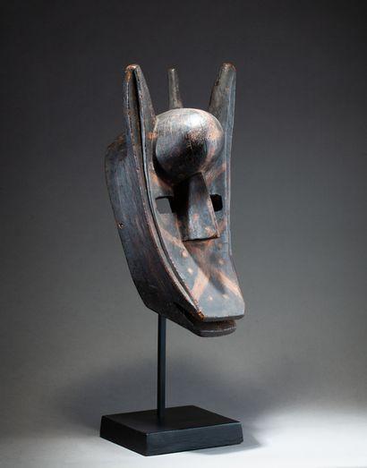 Beau masque hyène de la société du Koré,...