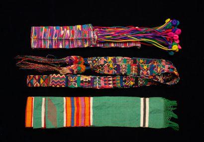 lot de tissus ethnographiques  Bolivie, Pérou,...