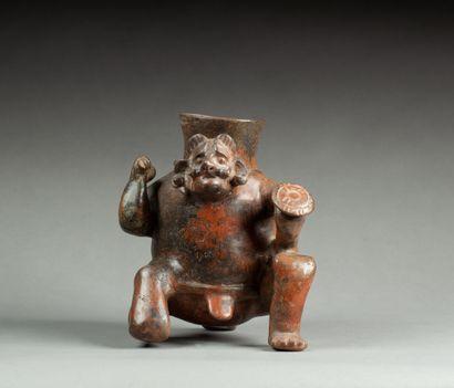 Vase présentant un guerrier aux proportions...