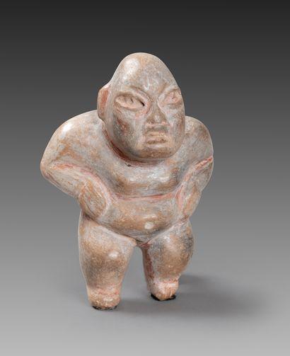 Statuette présentant un chamane olmèque debout,...
