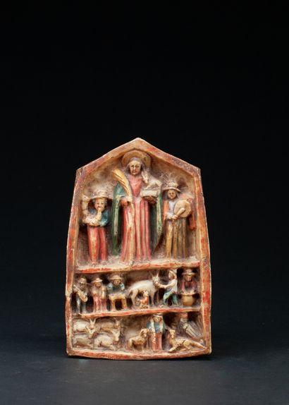 autel portatif présentant un saint tenant...