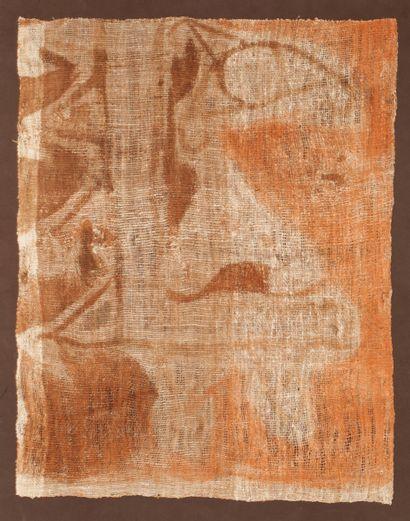 élément de bannière peinte d'un décor symbolique...