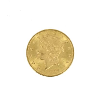 One 20 US Dollars Liberty Head gold coin...