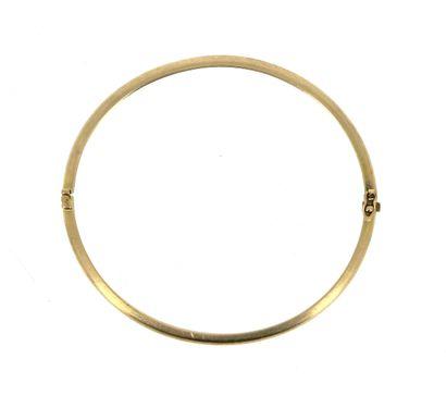 Bracelet jonc ovale en or jaune 14 K (585...