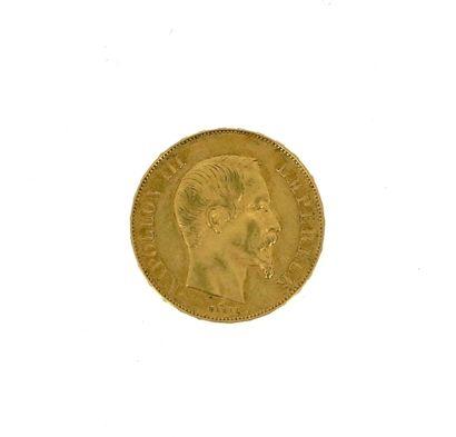 A 50 FF Napoleon III bareheaded gold coin...