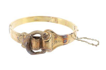 Bracelet en or jaune 18 K (750 °/°°) de style...