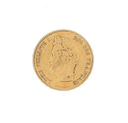 A 40 FF Louis-Philippe gold coin  1832 B