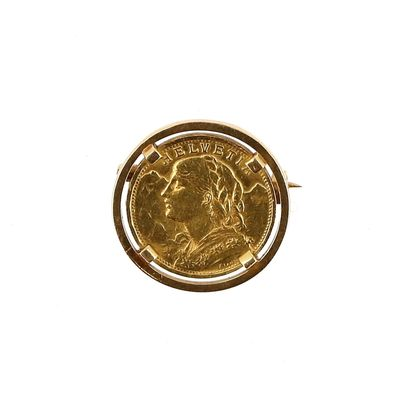 One 20 franc Swiss gold coin Helvetia 1935...