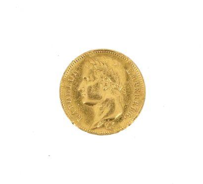 A 40 FF Napoleon Emperor gold coin  1811...