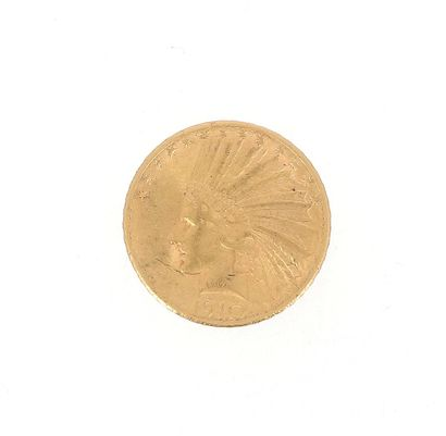 One 10 US Dollars gold coin Indian Head ...