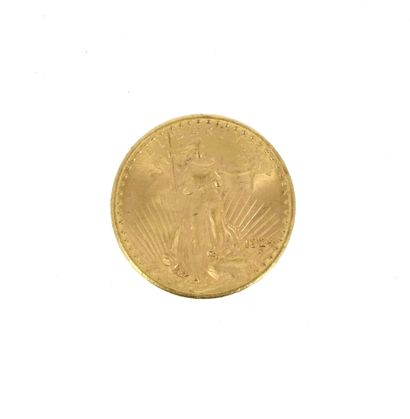 One 20 US Dollars Eagle gold coin  1924