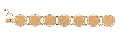 18 K (750 °/°°°) yellow gold bracelet composed...