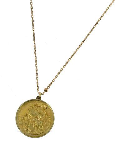 Chaine en or en or rose 18 K (750 °/°°) à...