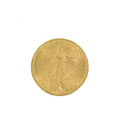 One 20 US Dollars Eagle gold coin  1908