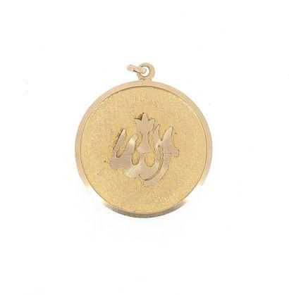 Pendentif circulaire en or jaune 18 K (750...