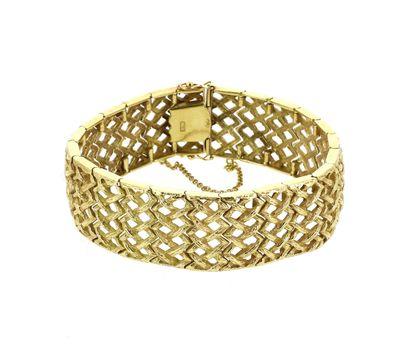 Bracelet articulé en or jaune 18 K (750 °/°°),...