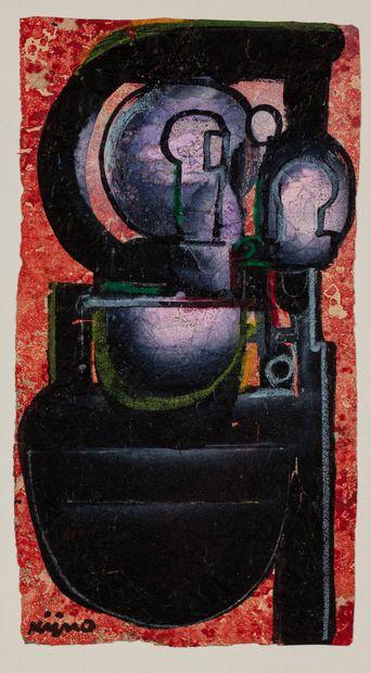 Ladislas KIJNO (1921-2012)  Composition  Acrylique...