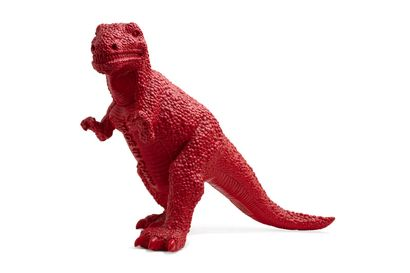 Jiango SUI (né en 1956)  Dinosaure rouge, Made in China, 2002  Polyester peint,...