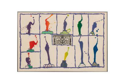 Pierre ALECHINSKY (né en 1927)  INK, 1989...