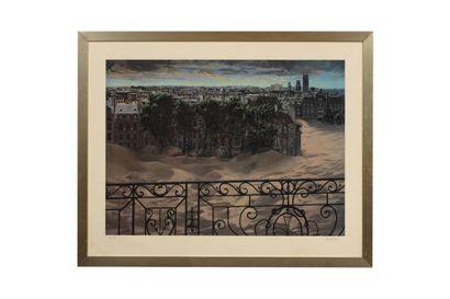 Denis RIVIERE (né en 1925)  Paris sous les...